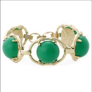 Stella and Dot Green Zinnia Bracelet